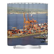 Port Of Vancouver Panorama Shower Curtain