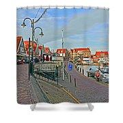 Port Of Volendam Shower Curtain