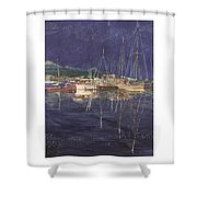 Stary  Port Orchard Night Shower Curtain