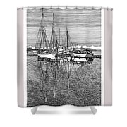 Reflections Of Port Orchard Washington Shower Curtain