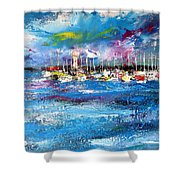 Port Reflections Shower Curtain