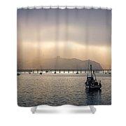 Port San Luis At Dawn 009 Shower Curtain