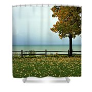 Port Sanilac Lookout, Michigan Shower Curtain