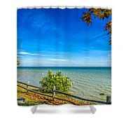Port Sanilac Scenic Turnout Shower Curtain