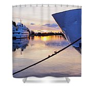 Port Sunrise Shower Curtain