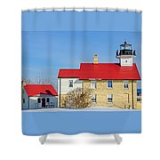 Port Washington Light Station  Shower Curtain