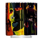 Porta-potty Canvas Shower Curtain