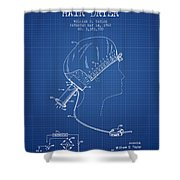 Portable Hair Dryer Patent From 1968 - Blueprint Shower Curtain