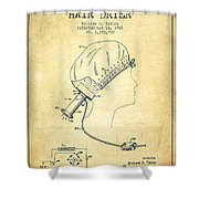 Portable Hair Dryer Patent From 1968 - Vintage Shower Curtain