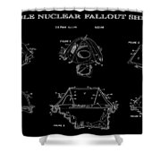 Portable Nuclear Fallout Shelters 2 Patent Art 1986 Shower Curtain