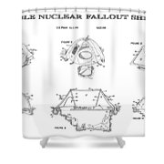 Portable Nuclear Fallout Shelters3  Patent Art 1986 Shower Curtain