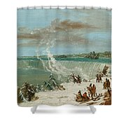 Portage Around The Falls Of Niagara At Table Rock Shower Curtain