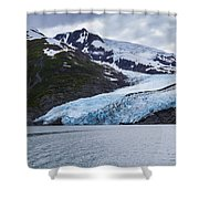 Portage Glacier Shower Curtain