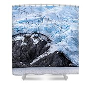 Portage Glacier Rretreat Shower Curtain