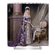 Portait Of Empress Maria  Fyodorovna Shower Curtain