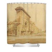 Porte St Denis, Paris Shower Curtain