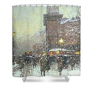 Porte St Martin In Paris Shower Curtain