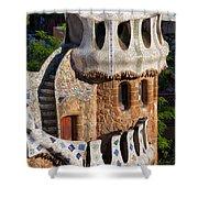 Porter's Lodge Pavilion In Park Guell Shower Curtain