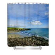 Porthcurnik Beach Cornwall Shower Curtain