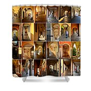 Porticos Of Padua Combined Shower Curtain