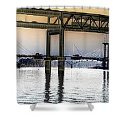 Portland Bridges Shower Curtain
