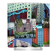 Portland Building Collage Shower Curtain