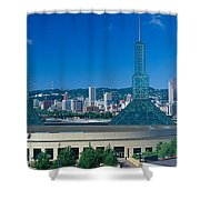 Portland Convention Center, Morning Shower Curtain