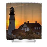 Portland Head Light At Sunrise IIi Shower Curtain
