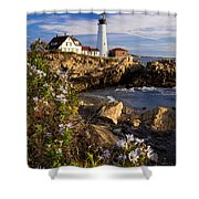 Portland Head Light Shower Curtain by Brian Jannsen