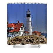 Portland Head Light Shower Curtain by Joann Vitali