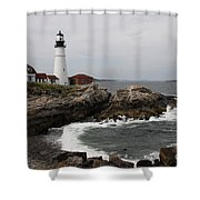 Portland Head Light - M E Shower Curtain