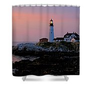 Portland Head Lighthouse At Daybreak Shower Curtain