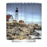 Portland Head Lighthouse Shower Curtain
