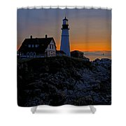 Portland Head Lighthouse Sunrise 2 Shower Curtain