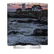Portland Head Lighthouse Sunset Shower Curtain