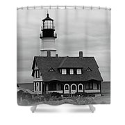 Portland Headlight 14221 Shower Curtain