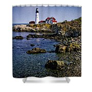 Portland Headlight 37 Oil Shower Curtain
