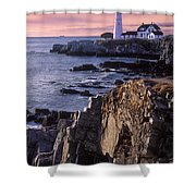 Portland Headlight Maine Shower Curtain