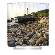 Portland Light House 2 Shower Curtain