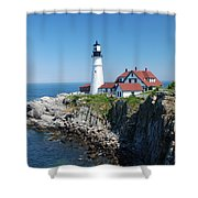 Portland Lighthouse 2 Shower Curtain