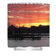 Portland Main Harbor Shower Curtain
