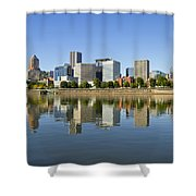 Portland Oregon Downtown Skyline Reflection 3 Shower Curtain