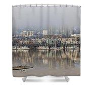 Portland Oregon Foggy Morning Shower Curtain