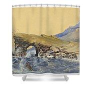 Portland Point Natural Bridge Circa 1862 Shower Curtain by Aged Pixel