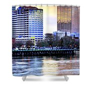 Portland Reflections 22929 Hdr Shower Curtain
