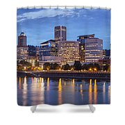 Portland Skyline Pm2 Shower Curtain