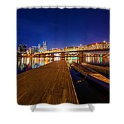 Portland Under The Stars Shower Curtain