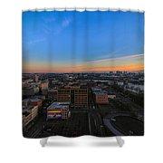 Portland Winter Sunrise Shower Curtain