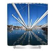 Porto Antico In Genova Shower Curtain