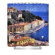 Porto Stefano In Italy Shower Curtain